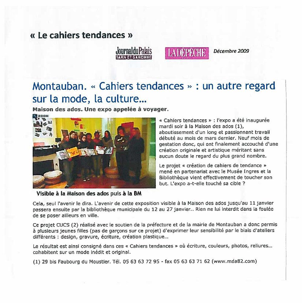 LA DÉPÊCHE DU MIDI 12/2009