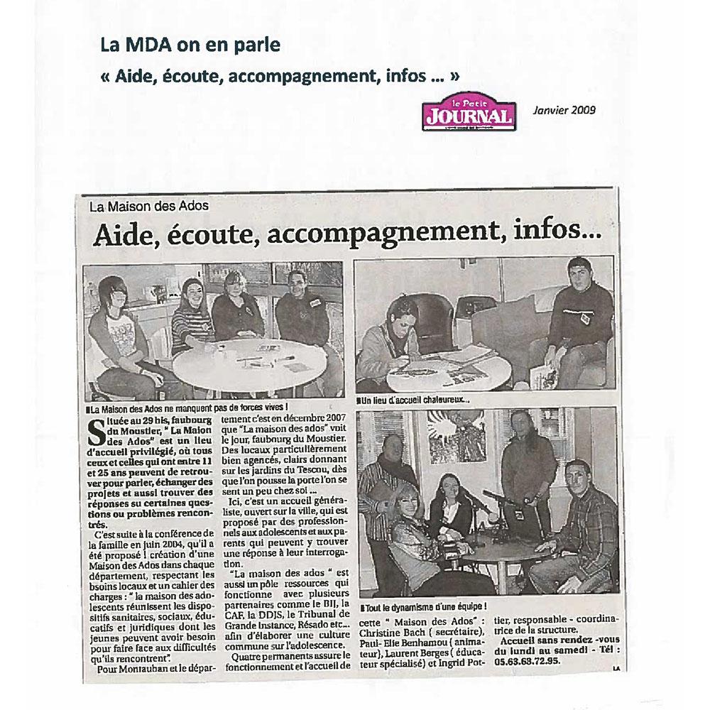 LE PETIT JOURNAL 01/2009